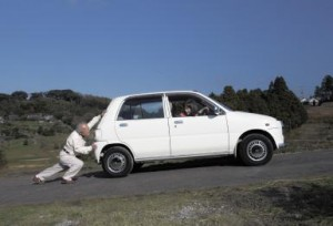 Atropellada propio vehículo